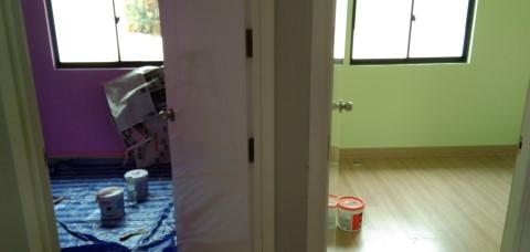 ห้องนอนสีเขียว ทาวเฮ้าส์