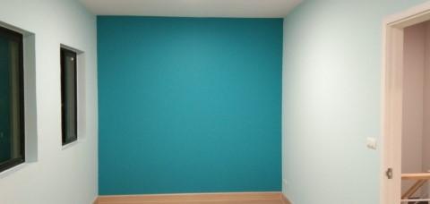 ห้องนอนเจ้าของบ้านสีฟ้า